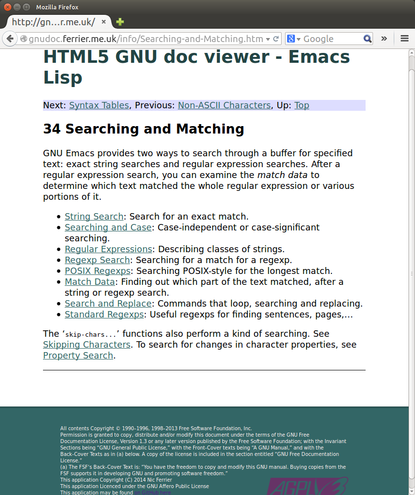Screenshot of GNU docapp
